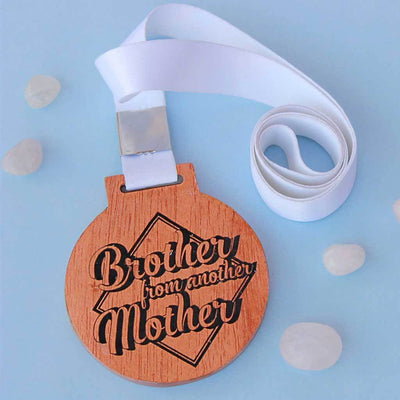 Brother From Another Mother Engraved Medal With Ribbon. It makes the perfect best friend gifts or gifts for friends. Friendship day gifts for best friend.