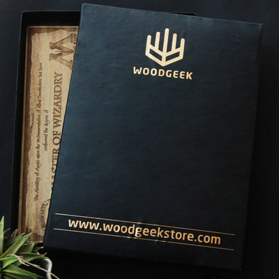 Carved Wooden Poster by Woodgeek Store Packaging for Birch Wood
