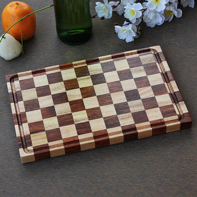 ChessBoard Style Wooden Chopping Board - Wood Cutting Boards - Wood Chopping Block - Butcher Block Wood - Kitchen Cutting Board - ChessBoard Style Chopping Board - Best Chopping Board - Hardwood Cutting Boards - Woodgeek Store