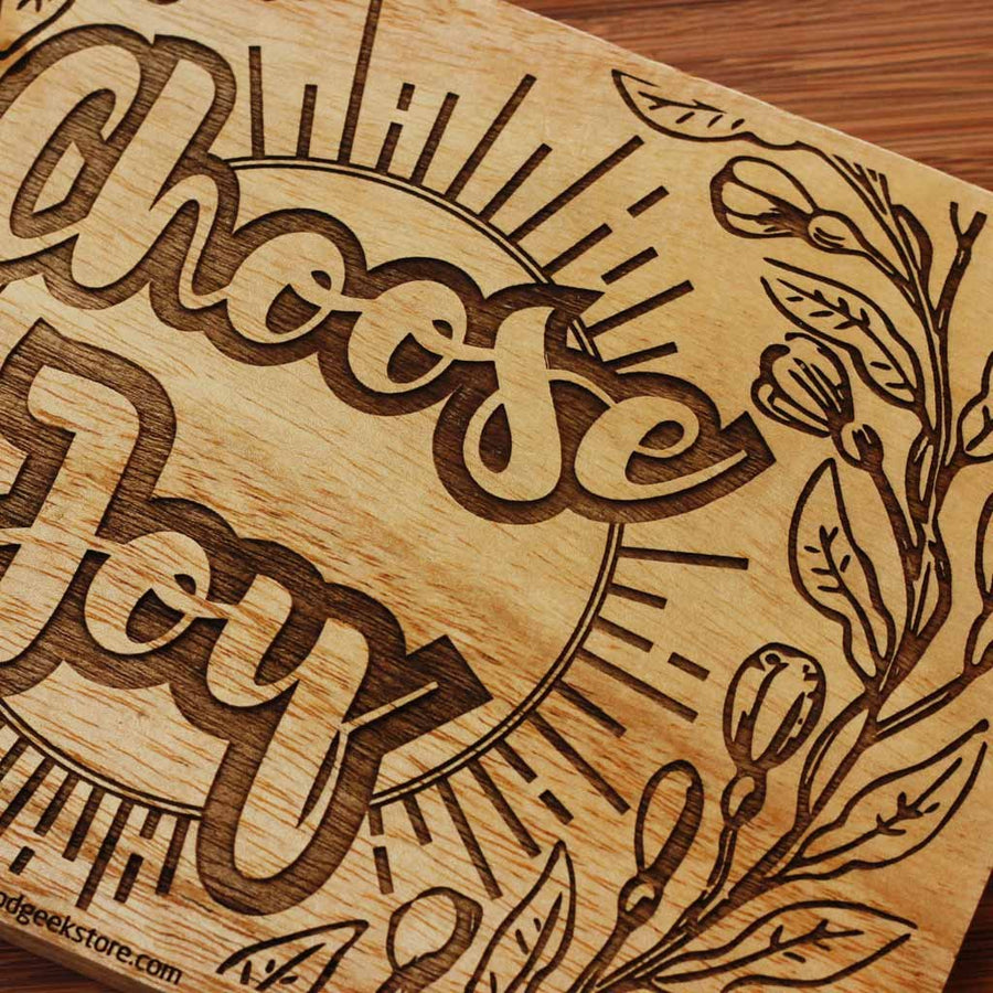 Choose Joy - Wood Wall Art - Wood Wall Posters - Wood Art - Woodgeek Store