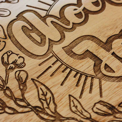 Wood Engraving - Choose Joy - Wood Wall Art - Wood Wall Posters - Wood Art - Woodgeek Store