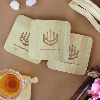 Coasters With Company Logo. These wooden coasters make great office coasters. These wooden drink coasters is one of the best corporate gifts and employee appreciation gifts