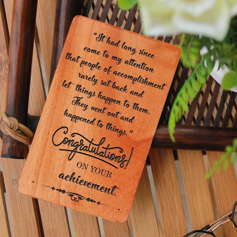 Congratulations Cards. A Set Of Personalized Wooden Cards. Greeting Cards Engraved With Congratulations For Baby Girl, Congratulations For Baby Boy, Congratulations On New Job and Congratulations On New Home