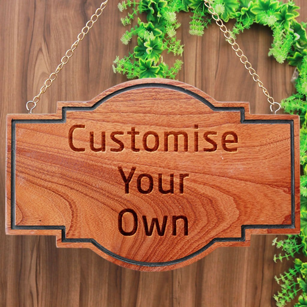 Create Your Own Wooden Sign - Custom Wood Signs - Personalized Wood Signs - Woodgeek Store