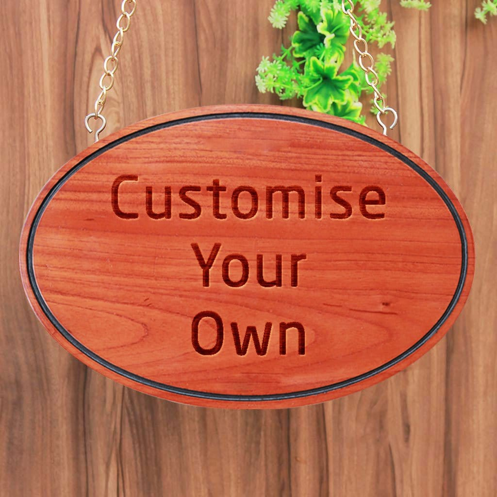 Customize Your Own Hanging Wooden Sign Oval