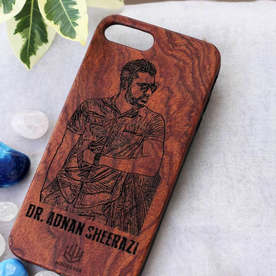 Photo Engraved Phone Cases - Wooden Phone Covers for Brothers and Sisters - Best Rakhi Gifts for Brother - Best Rakhi Gifts for Sister from Woodgeek Store - rosewood Phone Case