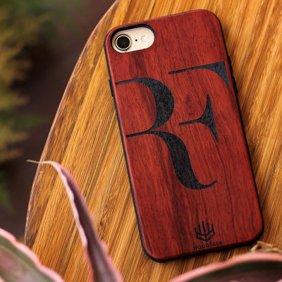 Create your own phone case at Woodgeek Store - Roger Federer Wooden Phone Case - Custom Engraved Phone Case - Wooden Phone Covers for Sports Geeks