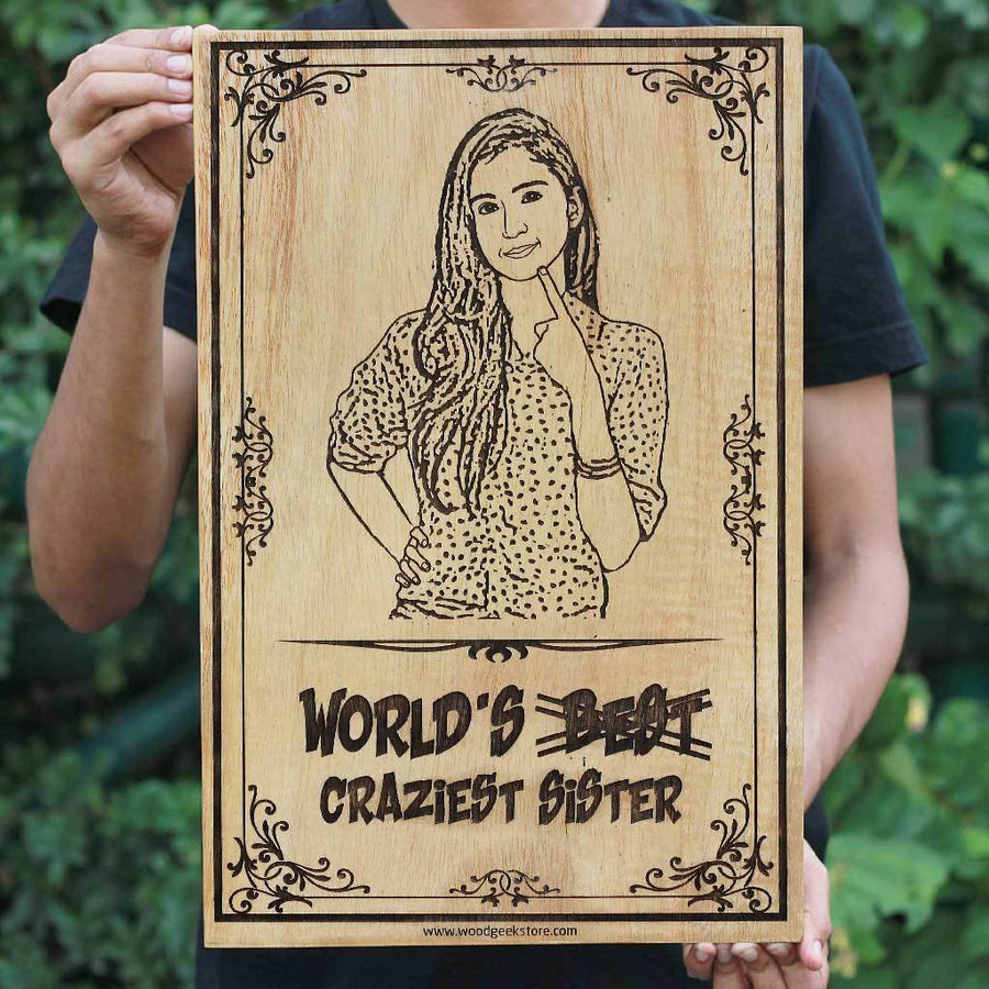 Carve Your Photo On Wood Personalized Gifts Photo Engraved Gifts