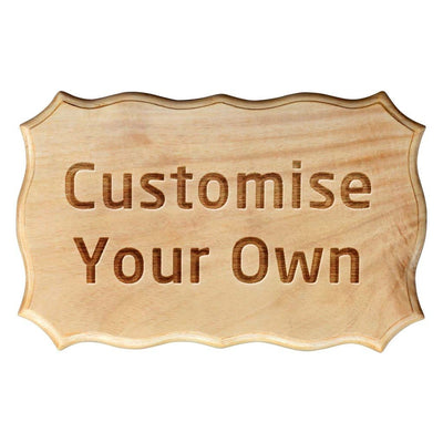 Custom Made Birch Wood Sign by Woodgeek Store - Customize Your Own Wooden Plaque