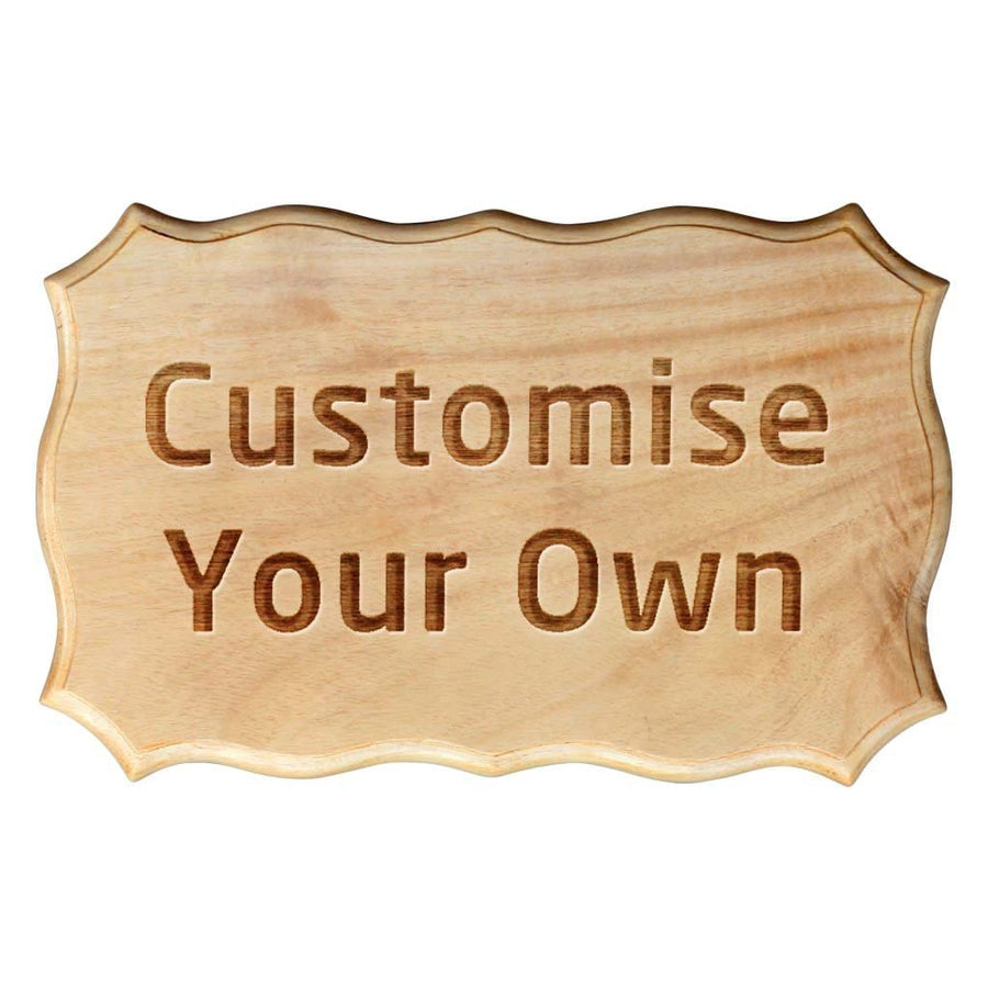 Custom Made Mahogany Wood Sign by Woodgeek Store - Customize Your Own Wooden Plaque