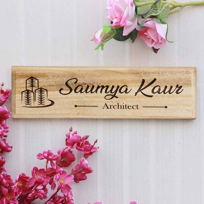 Office Desk & Door Name Plates for Architects - Personalized Name Signs For Architects by Woodgeek Store