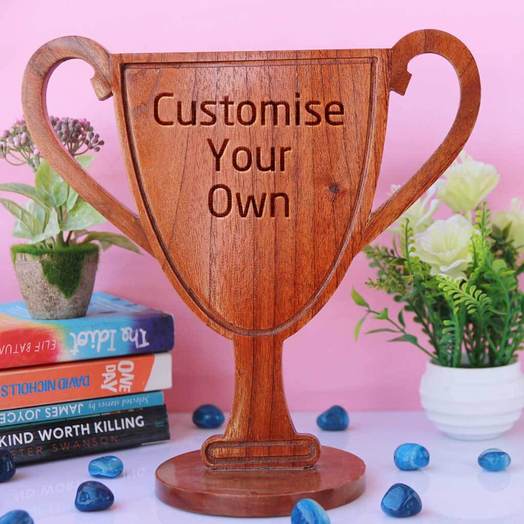Customise Your Own Wooden Trophy Cup