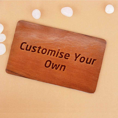 Customize Your Own Wooden Greeting Card For Rakhi - Woodgeek Store