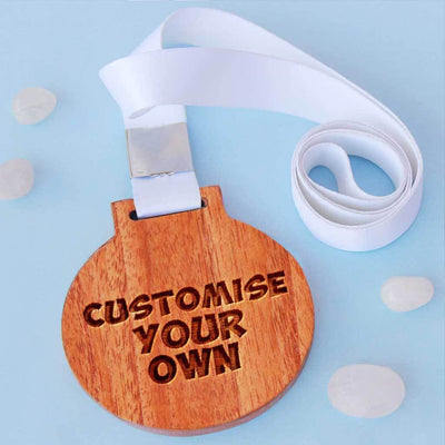 Custom Medals - Create Your Own Medal With Custom Text - Medal With Ribbon - This is the best personalized gift