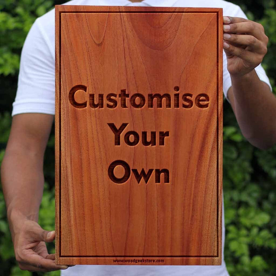 Create Your Own Carved Wooden Poster Engraved With A Photo And Quote - Woodgeek Store