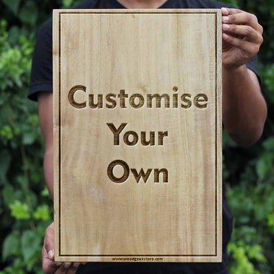 personalized carved wooden poster photo on wood customized wood