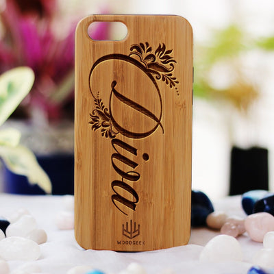 Diva Wood Phone Case - Bamboo Phone Case - Engraved Phone Case - Fun Wood Phone Cases - Wood phone cases for women