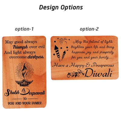 Diwali Greeting Card Design Options. Wooden Cards. Wooden Greeting Cards.