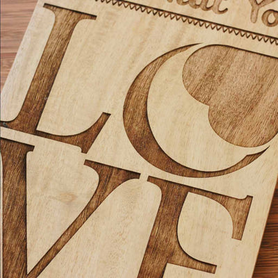 Wood Engraving - Do What You Love - Wood Sign - Wood Wall Posters - Wood Wall Art - Woodgeek Store