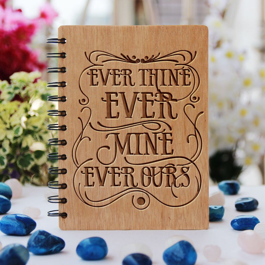 Ever Thine Ever Mine Ever Ours - Beethoven - Love Journal - Best Love Letters By Great Men - Wooden Notebook - Personalized Notebook - Woodgeek Store