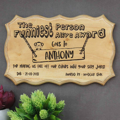 the funniest person alive humorous award funny award certificates