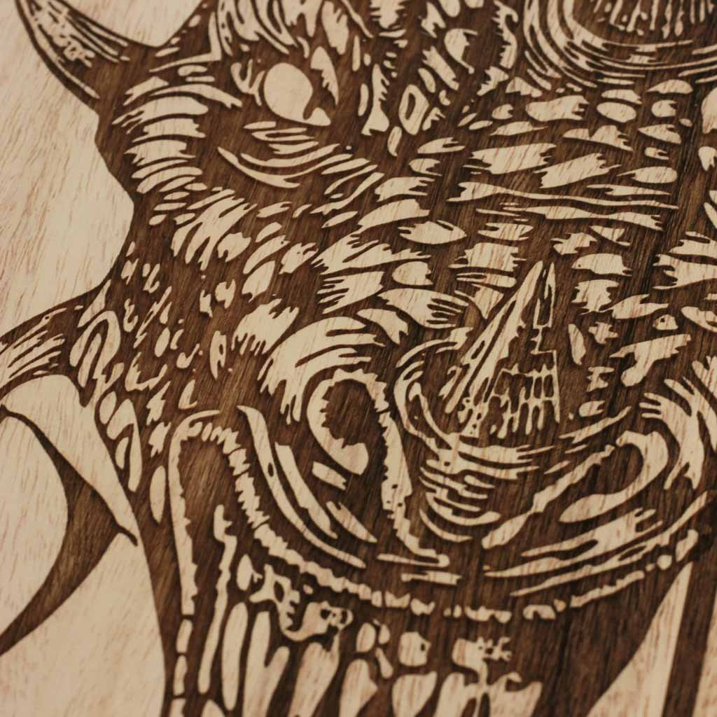 Wooden poster fire dragon wall decor chinese zodiac wood wall art game of