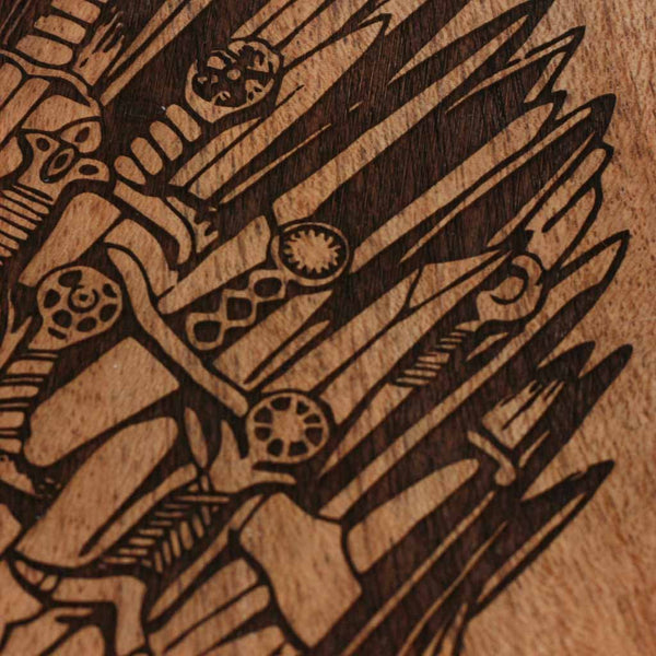 Game Of Thrones Carved Wooden Poster Got Iron Throne