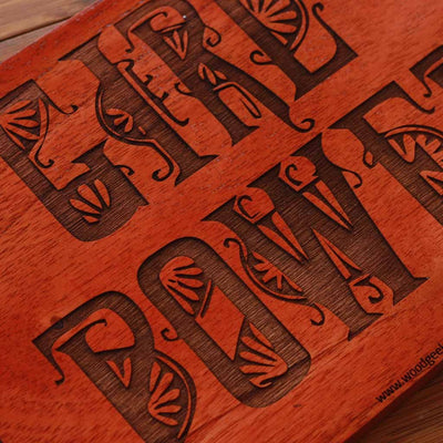 Girl Power Engraved Wood Sign