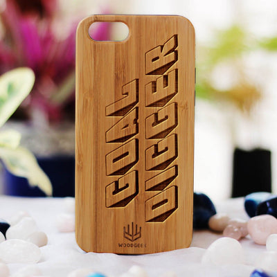 Goal Digger Wood Phone Case - Bamboo Phone Case - Engraved Phone Case - Inspirational Wood Phone Cases - Woodgeek Store