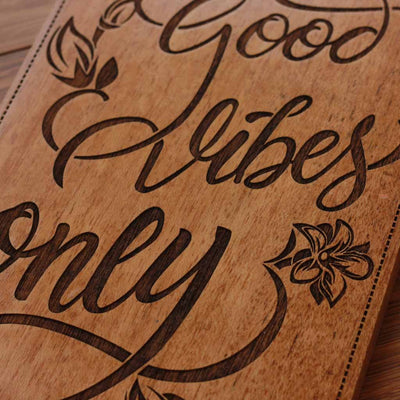 Good Vibes Only Wood Wall Posters - Wood Sign - Wood Wall Art - Inspirational Gifts - Woodgeek Store