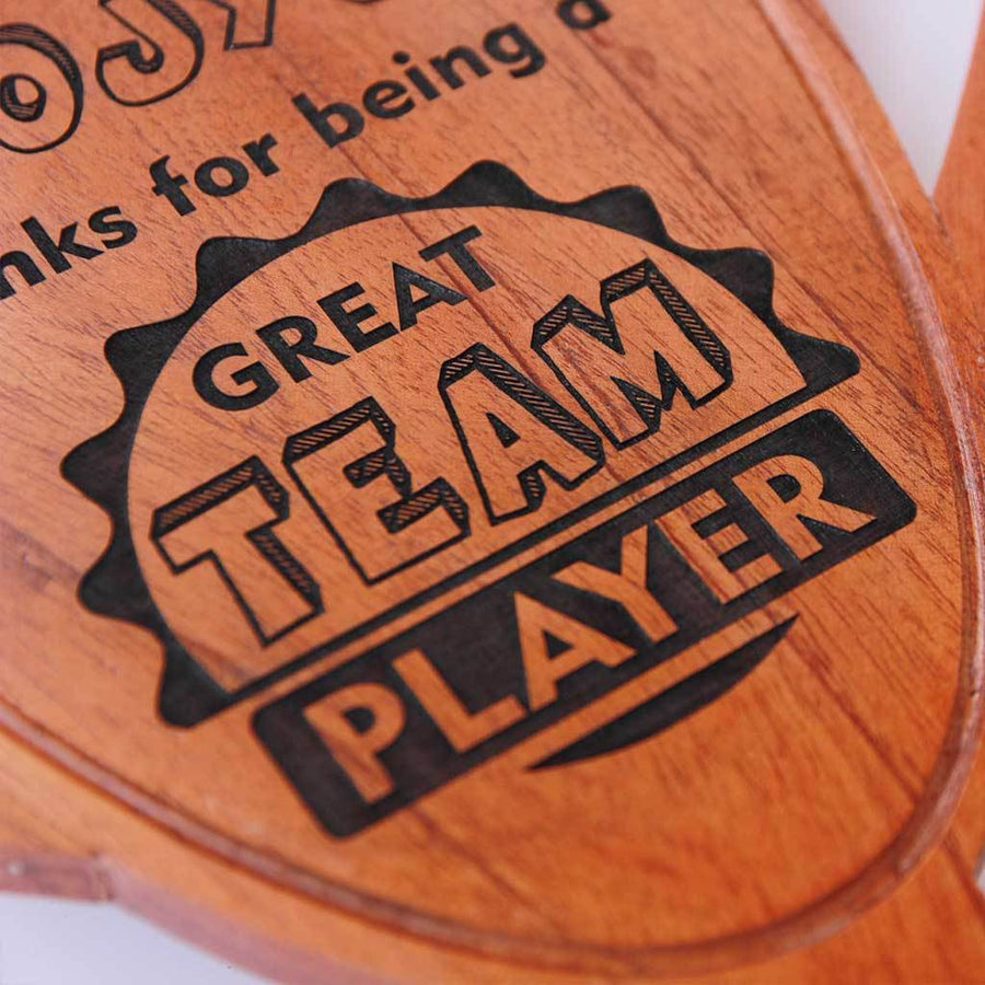 Best Colleague/ Team Player Wooden Trophy & Award. Corporate Awards for Business Clients & Colleagues. Custom trophies make great Gift Ideas For Coworkers.