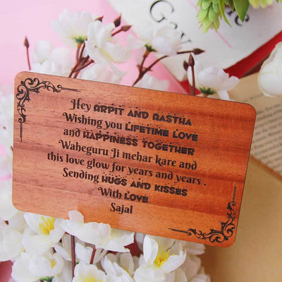 Wooden Greeting Card