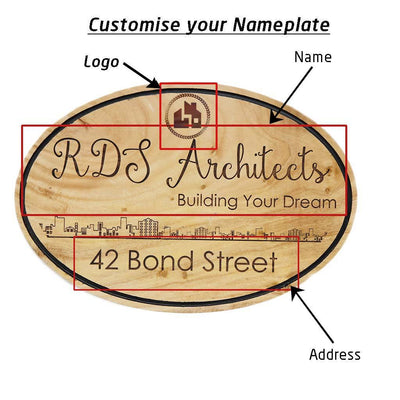 Architect Name Plate. These Custom Name Plates Are Hanging Signs For Architectural Firms. This Business Sign and Office Name Plate Is A Great Gift For Architects.