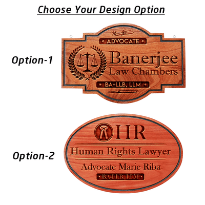 Business Sign For Lawyers - This Logo Engraved Sign Makes A Perfect Gift For A Lawyer - Shop More Business Signs And Shop Signs From The Woodgeek Store