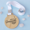 Happy Deepavali Wooden Medal For Diwali.This wooden medal engraved with Diwali wishes will make the best diwali gift.