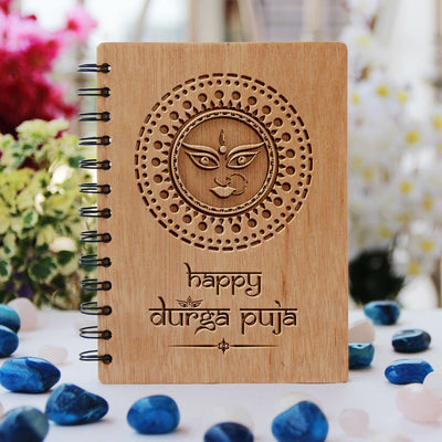 Happy durga puja notebook - durga puja gifts - gifts for bengalis