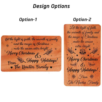 Happy Holidays Card - Wooden Cards Design Options