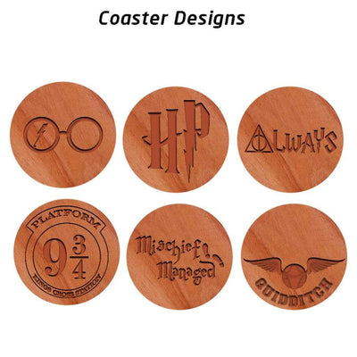 Cool Harry Potter Merchandise. Harry Potter Coasters. Harry Potter Gifts.
