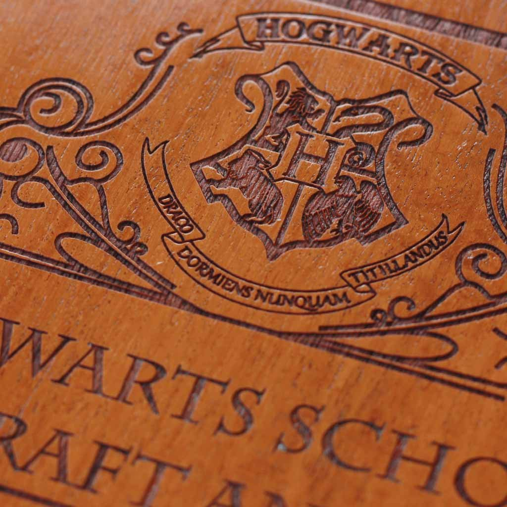 Charlotte Kyriakou turns dining room into Harry Potter ... |Harry Potter Hogwarts Wooden Table