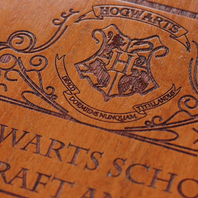 Wood Engraving - Harry Potter - Hogwarts Acceptance Letter - Carved Wooden Poster - Wood Wall Hanging - Woodgeek Store