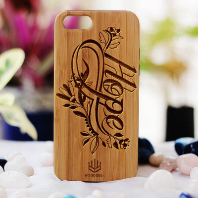 Hope Wooden Phone Case from Woodgeek Store - Bamboo Phone Case - Engraved Phone Case - Wooden Phone Covers - Custom Wood Phone Case - Inspirational Phone Cases