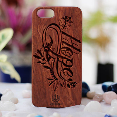 Hope Wooden Phone Case from Woodgeek Store - Rosewood Phone Case - Engraved Phone Case - Wooden Phone Covers - Custom Wood Phone Case - Inspirational Phone Cases