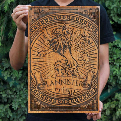 House Lannister - Game of Thrones Houses - GOT Poster - Gifts for Game of Thrones fans - Woodgeek Store