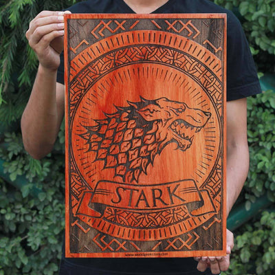 House Stark - Game of Thrones Houses - GOT Poster - Gifts for Game of Thrones fans - Woodgeek Store