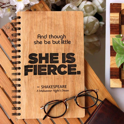 Personalized Wooden Notebook - Notebook Journal - Customize Your Own Notebook With A Personal Message - Woodgeek Store