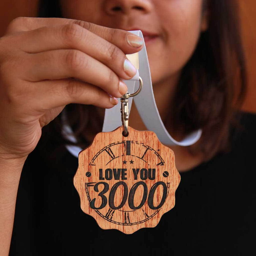 I Love You 3000 Wooden Medal - Looking For Marvel Gifts For Him Or Her ? These Medal Awards Make Great Gifts For Avengers Fans. This Trophy Medal Is A Romantic Gift For Boyfriend Or Husband.