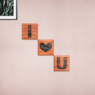 I Love You Wooden Crossword Art - Love Decorative Letter Tiles for Home Decor - Romantic Gifts for Valentine's Day by Woodgeek Store
