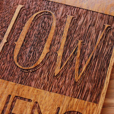 Laser Wood Engraving - Carved Wood Wall Decor | If not now when Wood Sign | Wood Wall Posters | Wood Wall Art | Woodgeek Store