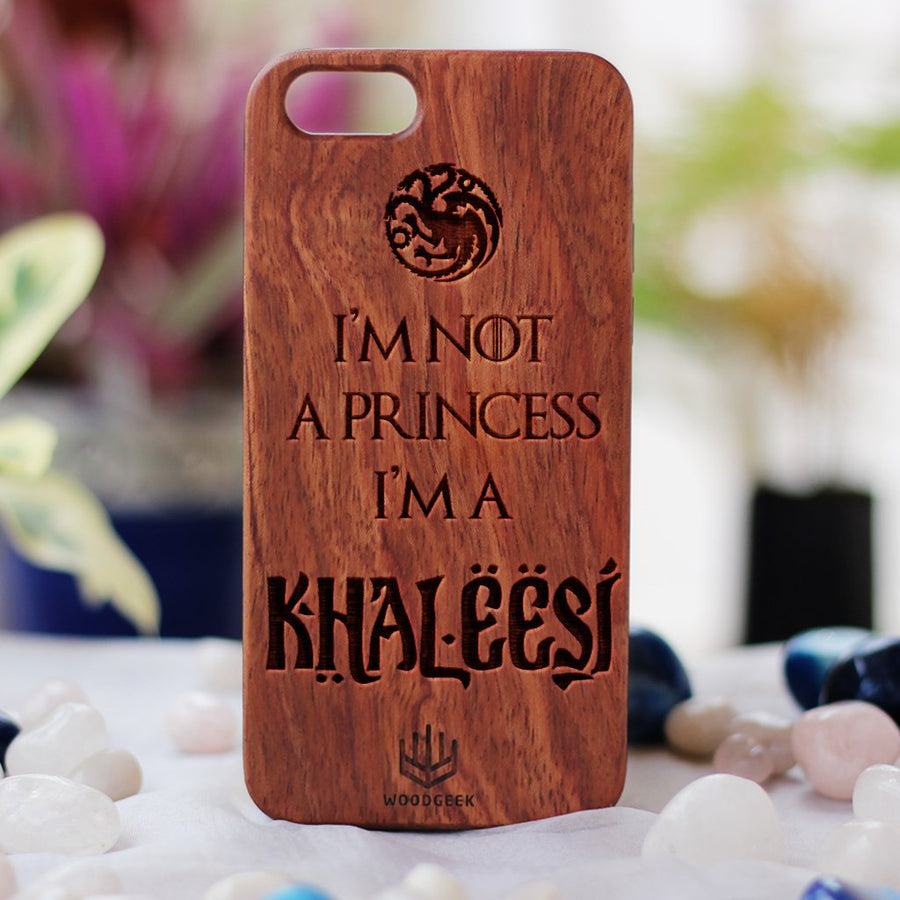 Khaleesi Wood Phone Case | Game of Thrones iPhone Cases & Mobile Covers | Bamboo Phone Case | Engraved Phone case | Inspirational Phone Case | iPhone Case | Woodgeek Store
