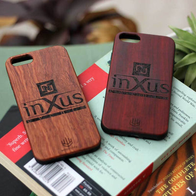 Logo Engraved Phone Cases - Logo Engraving on Wood - Wooden Phone Cases - Engraved Phone Covers - Rosewood Phone Cases from Woodgeek Store